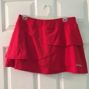 Dresses & Skirts - Red tennis skirt!